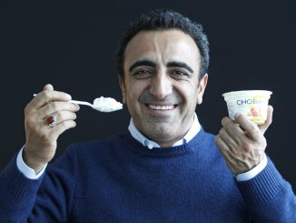 In this Jan. 13, 2012 photo, Hamdi Ulukaya, CEO of Chobani Greek Yogurt, poses at the Chobani plant in South Edmeston, N.Y. Greek yogurt now accounts for a quarter of the total yogurt market after a dizzying growth spurt that is especially apparent here in the heart of upstate New York. The nation's No. 1 and No. 2 Greek yogurt brands — Chobani and Fage, respectively — are both expanding plants within 60 miles of each other, and another company is building a plant in western New York. The expansions come as the big U.S. yogurt makers are focusing on Greek products, too. (AP Photo/Mike Groll)
